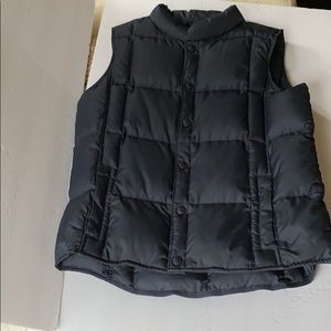 Lands End | Down & Feather Puffer Vest Navy
